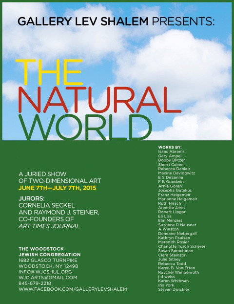 The Natural World: Curated two-dimensional artwork; June 7th - July 7th, 2015