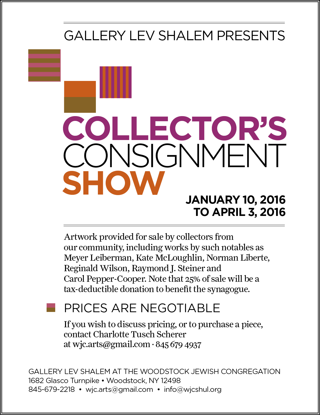 Collector's Consignment Show: January 10 - May 22, 2016