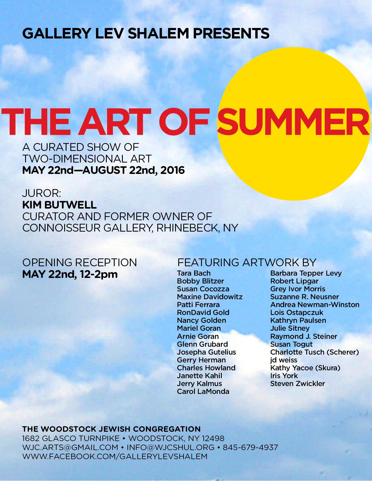 The Art of Summer: May 22-August 22, 2016
